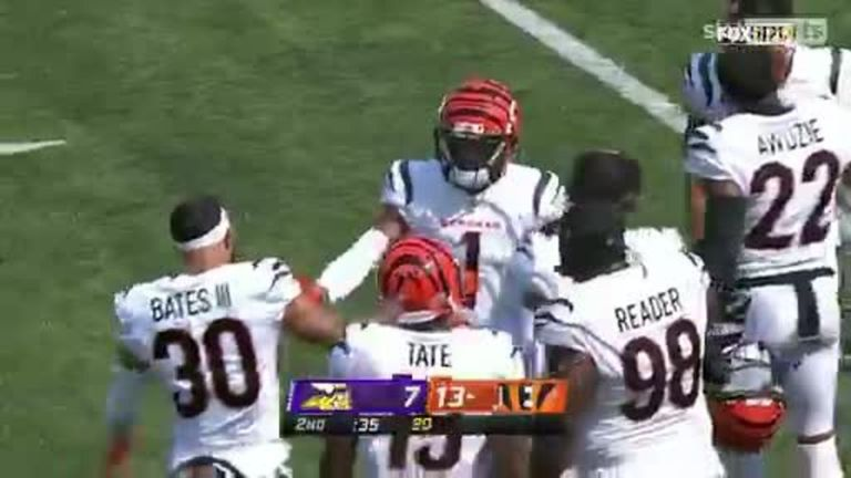 Cincinnati Bengals moved ahead of the Vikings with a Joe Burrow 50-yard TD to Ja'Marr Chase!