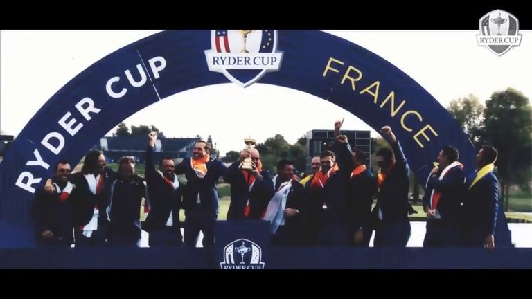Team Europe produced an inspirational video to remind its players about the select company they're in by competing at a Ryder Cup.