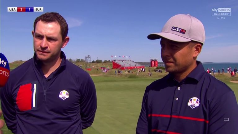 Xander Schauffele paid tribute to playing partner Patrick Cantlay after despatching Rory McIlroy and Ian Poulter 5&3