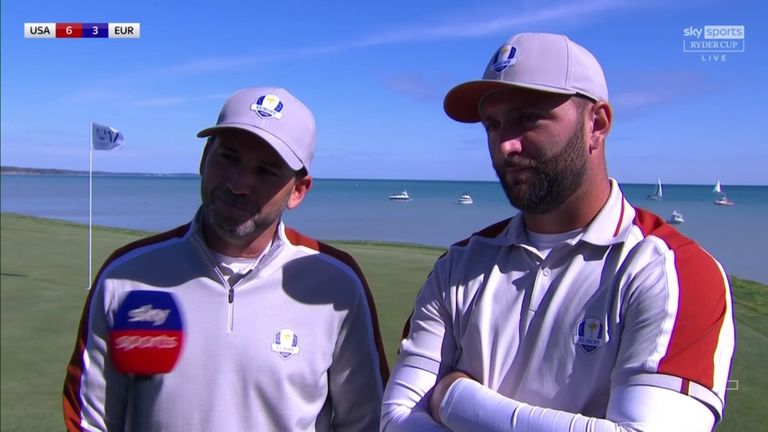 Jon Rahm and Sergio Garcia reflect on their impressive comeback and much-needed victory over Brooks Koepka and Daniel Berger in the Saturday foursomes