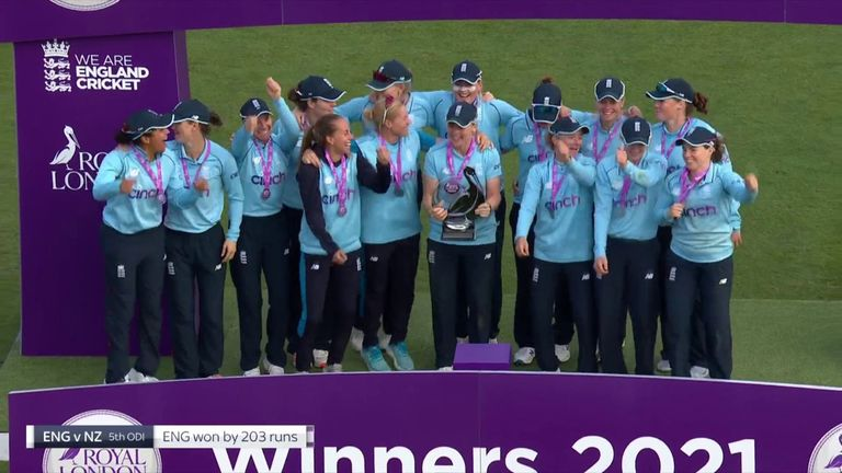 England captain Heather Knight says the 4-1 series win against New Zealand is a mark of the quality within the team heading into a busy winter schedule