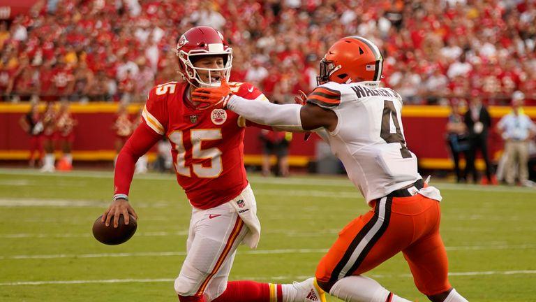 Watch the best bits from the Week One clash between the Kansas City Chiefs and the Cleveland Browns