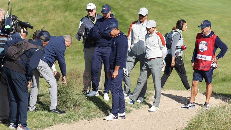 Brooks Koepka swore at officials after being denied relief from a bad lie