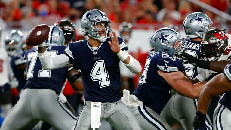 Dallas Cowboys' Dak Prescott impressed on his return from injury, throwing for 403 yards and three touchdowns in the 2021 season opener against the Tampa Bay Buccaneers