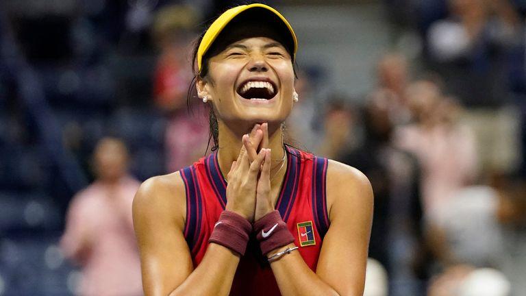 Emma Raducanu became the youngest Grand Slam finalist since Maria Sharapova won Wimbledon in 2004