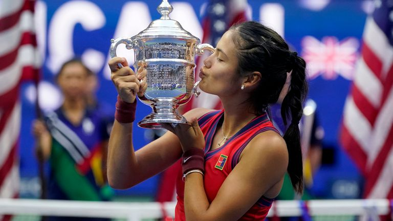 New US Open champion Emma Raducanu says she is 'very honoured' to have received congratulations from the Queen as she became the first British woman to win a Grand Slam singles title in 44 years