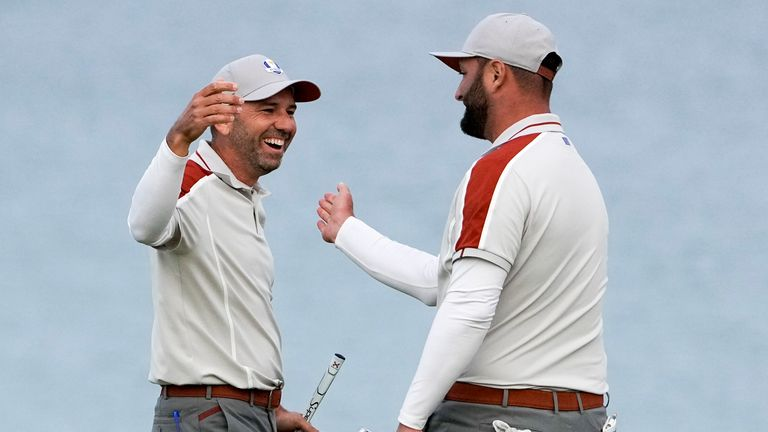Sergio Garcia et John Ram ont remporté leurs trois matchs ensemble à Whistling Straits