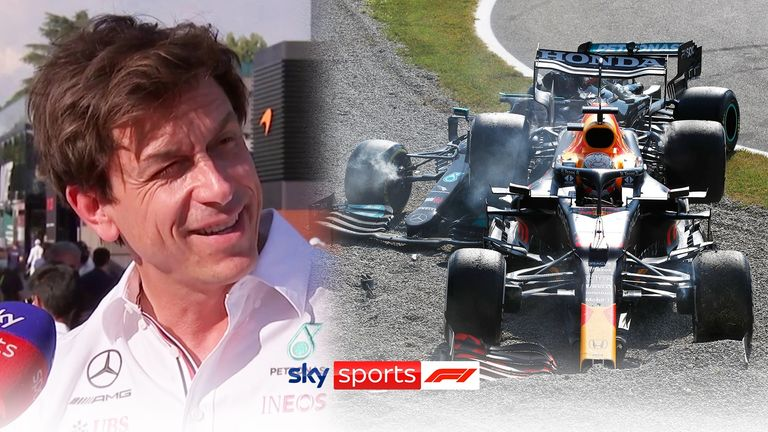 Mercedes boss Toto Wolff feels the collision between Lewis Hamilton and Max Verstappen was a 'tactical foul' from the Red Bull driver.