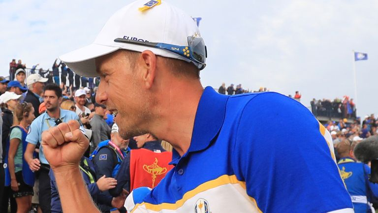 Henrik Stenson held a 100 per cent record in 2018, defeating Bubba Watson in the singles as Europe won 17.5-10.5