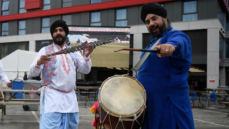 English and Indian fans turned up at Emirates Old Trafford despite the cancellation of the fifth Test