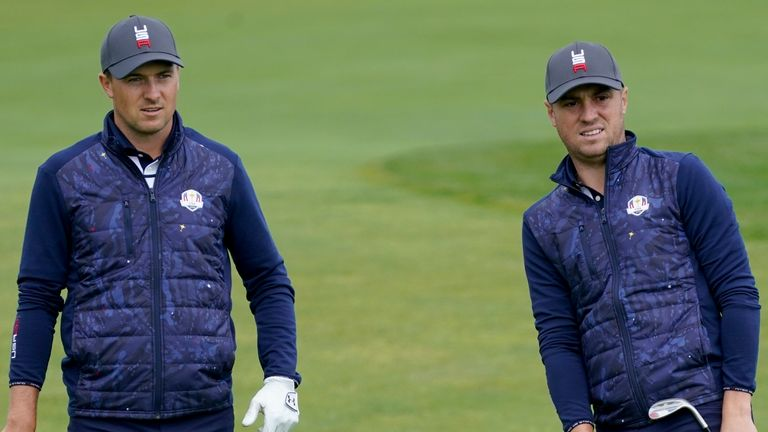Jordan Spieth and Justin Thomas should lead the way for USA, says Davies
