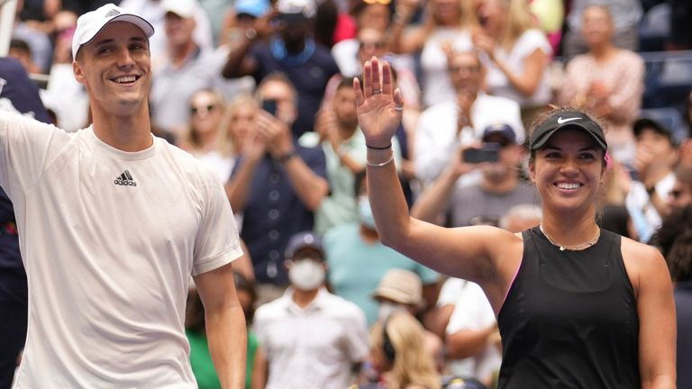Joe Salisbury and Desirae Krawcyzk triumphed at the US Open mixed doubles