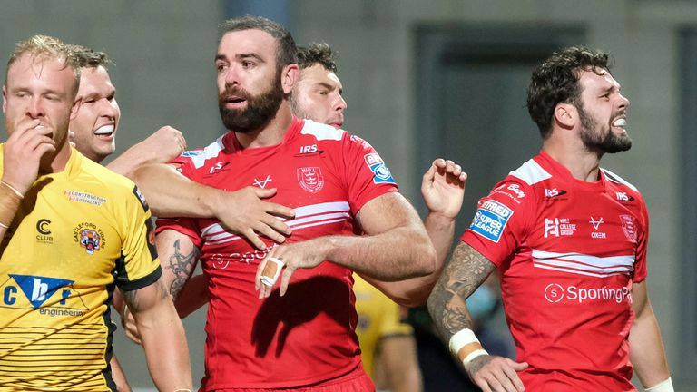 Highlights of the Super League clash between Hull KR and Castleford Tigers