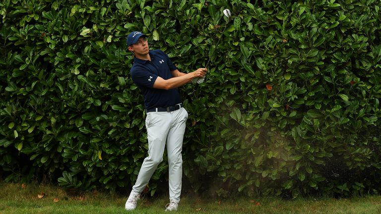 Matt Fitzpatrick had hedge problems at the 17th during the final round of the BMW PGA Championship