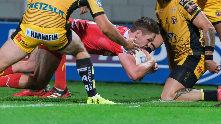 Matt Parcell scored one of four Hull KR tries as they came from behind to beat Castleford on Saturday