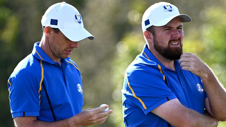 Rory McIlroy lost alongside Shane Lowry in the afternoon fourballs