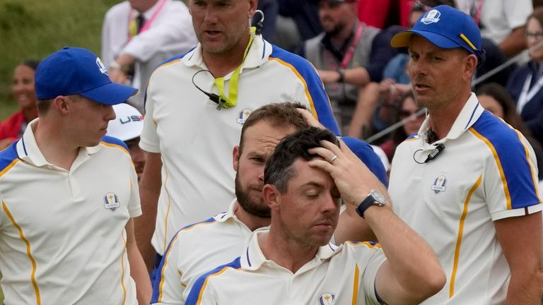 Rory McIlroy won one point from his four matches during Team Europe's heavy defeat