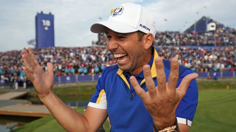 Sergio Garcia is Europe's all-time record points scorer at Ryder Cups