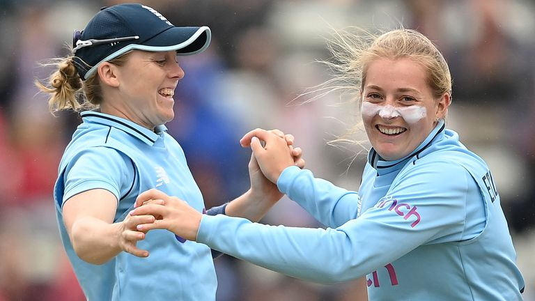 Sophie Ecclestone took two quick wickets to all-but end New Zealand hopes at Canterbury