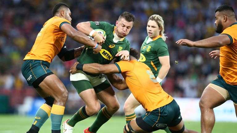 No way through the Wallaby defence for Handre Pollard