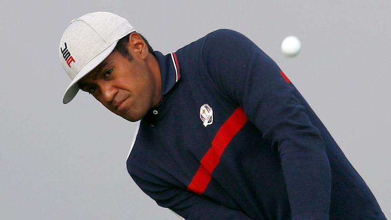 Tony Finau at the 2018 Ryder Cup