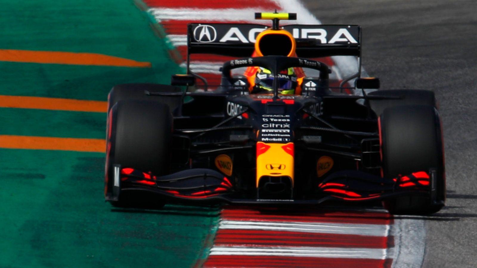 United States GP: Sergio Perez tops Practice Three as Max Verstappen, Lewis Hamilton see laps deleted