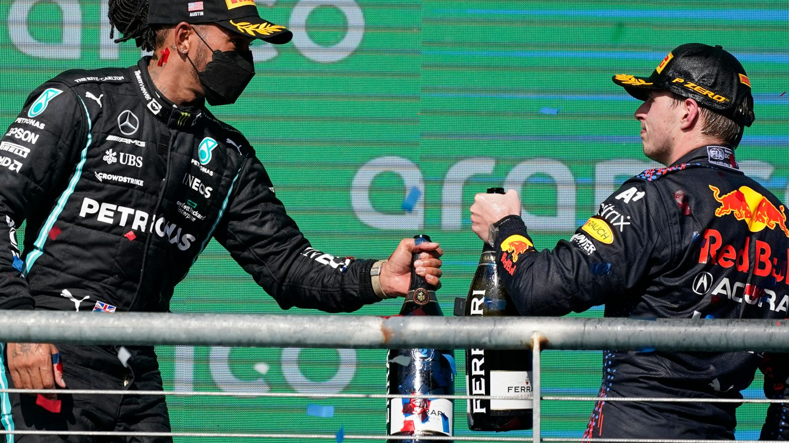 United States GP: Max Verstappen and Red Bull on late Lewis Hamilton fears after 'aggressive' strategy