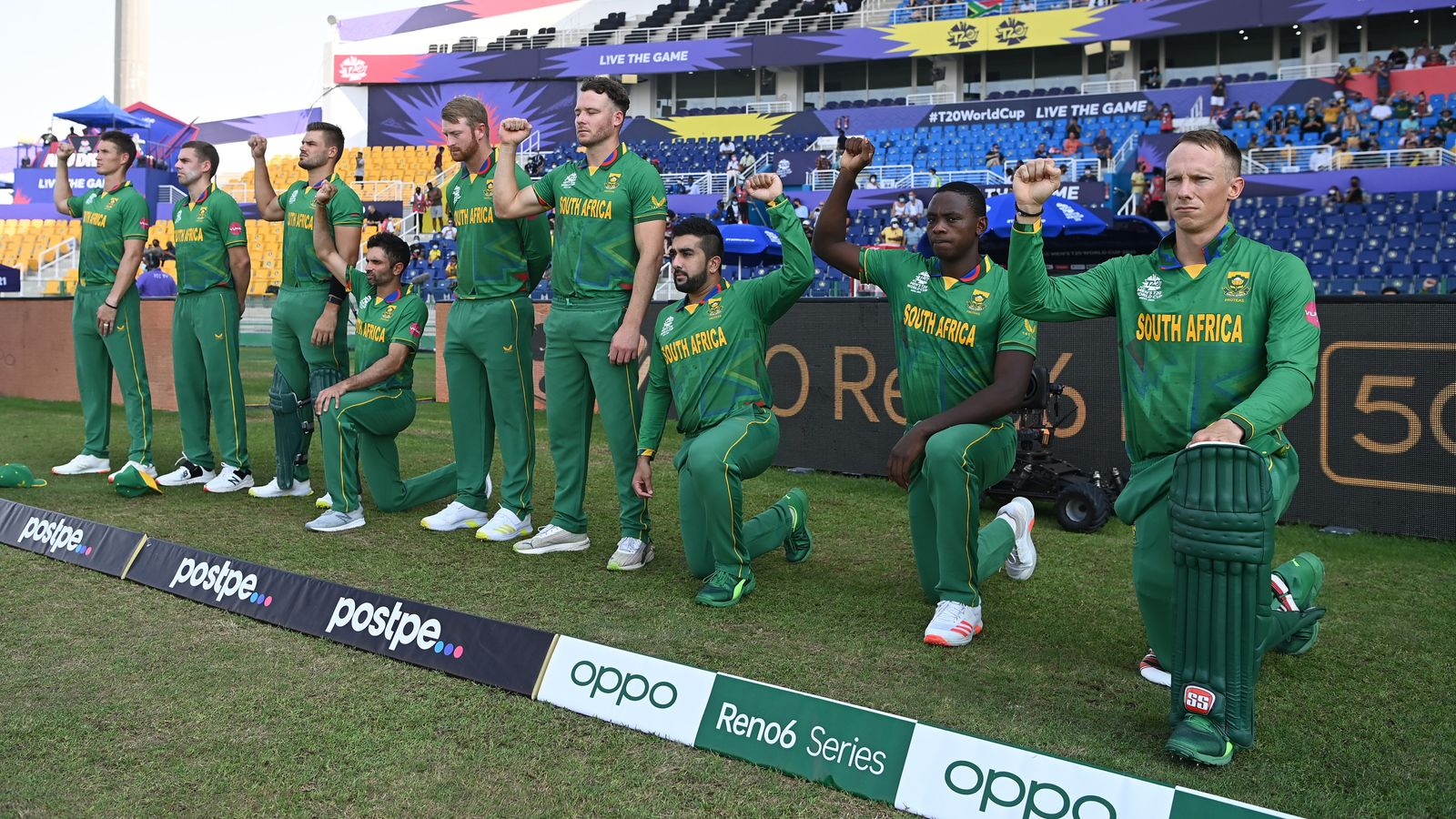 Cricket South Africa board instructs Proteas players to take a knee before T20 World Cup matches - Sky Sports