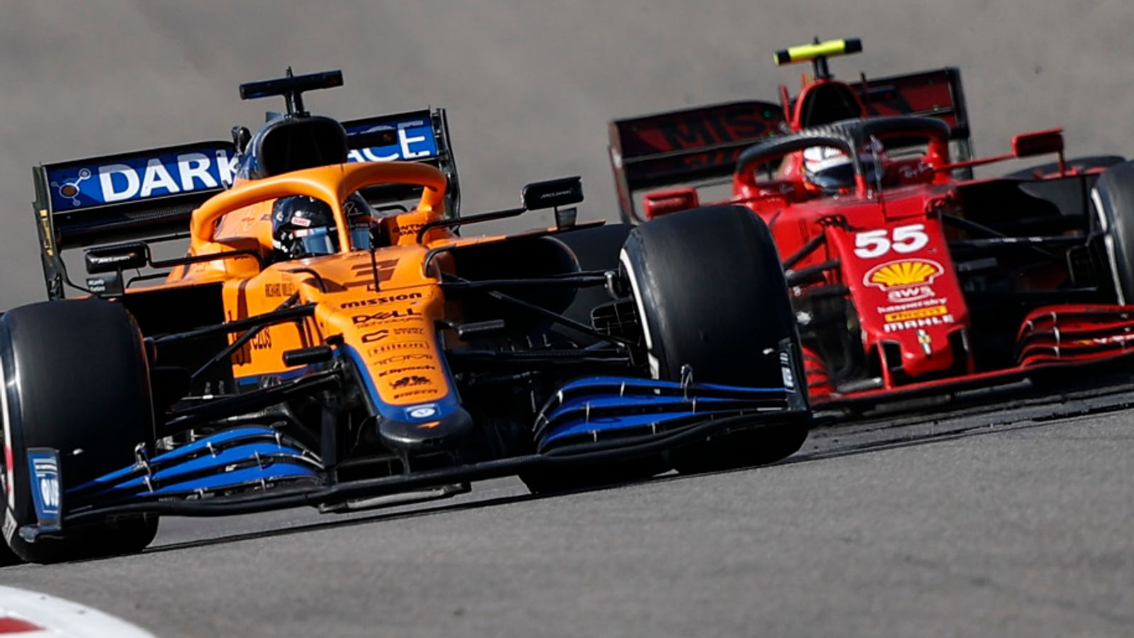 Who wins battle of F1 giants? McLaren's discomfort as Ferrari find speed to close in on third