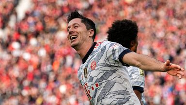 Robert Lewandowski reached double figures in the Bundesliga this season from just eight games