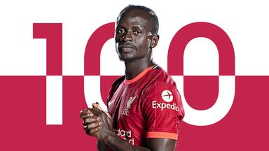 Image from Sadio Mane: Liverpool winger reaches 100 Premier League goals to join Mohamed Salah in '100 Club'