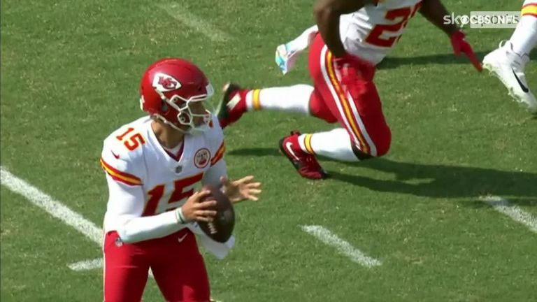 Patrick Mahomes threw an unusual underarm touchdown pass for the Kansas City Chiefs in Week Four against the Philadelphia Eagles