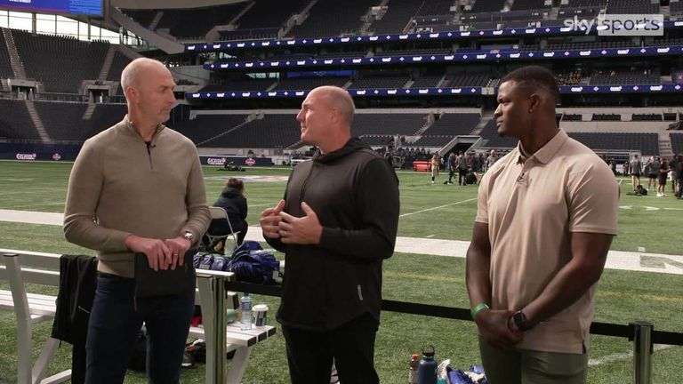 Former NFL executive Scott Pioli and player Will Blackmon talk to Neil Reynolds on Jon Gruden's resignation as head coach of the Las Vegas Raiders