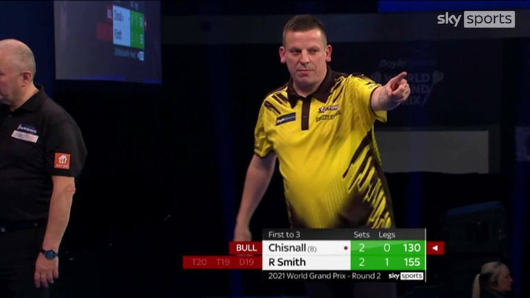 Check out this stunning 130 checkout on the bullseye from Dave Chisnall