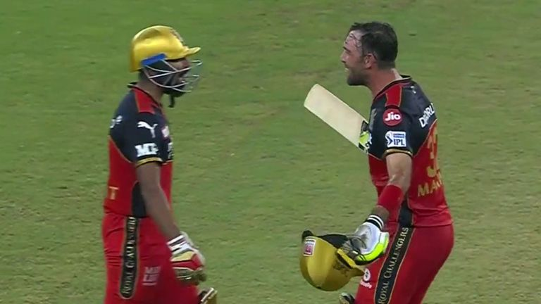 Srikar Bharat (left) smashed a six off the final ball to snatch victory for RCB