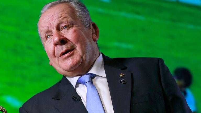World Rugby chairman Bill Beaumont is among those affected by colour blindness