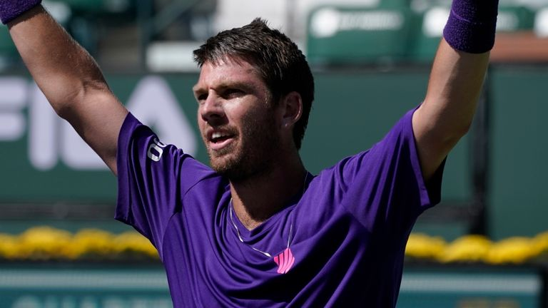 Cameron Norrie secured a spot in the last four at Indian Wells on Thursday
