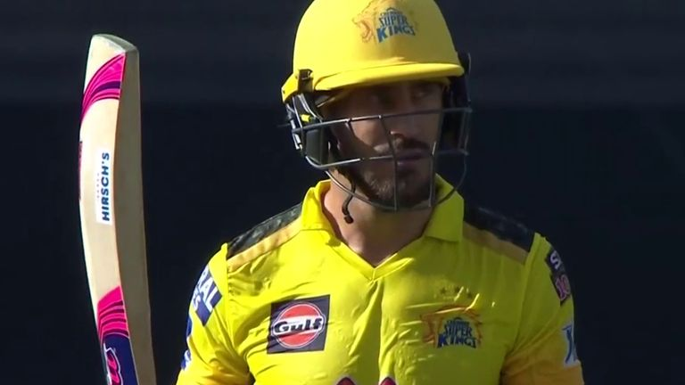 Faf du Plessis struck two sixes and eight fours on his way to 76 off 55 balls
