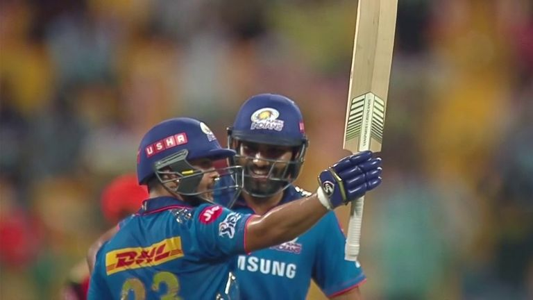 Ishan Kishan was in blistering form as he smashed 84 from 32 balls as Mumbai made 235 from their 20 overs