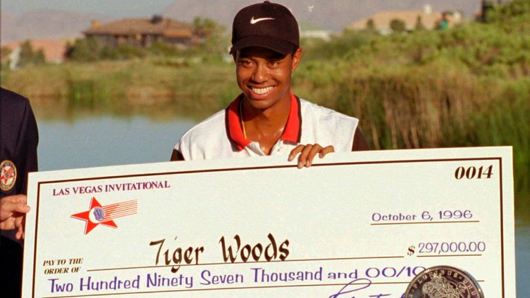 Victory was the first of two PGA Tour wins for Woods in 1996