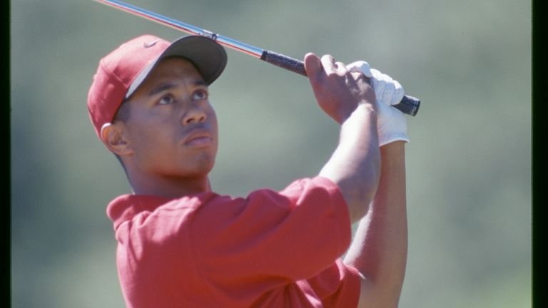 Tiger Woods' win came in just his fifth PGA Tour start. [Credit: Sam Greenwood/PGA TOUR Archive]