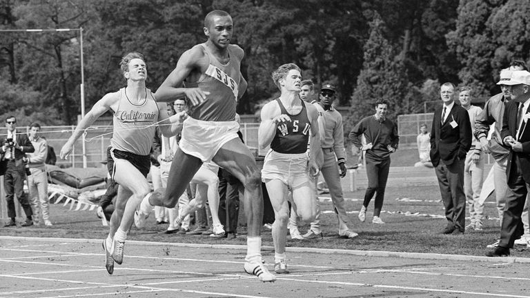 Tommie Smith in 1965 running for San Jose State